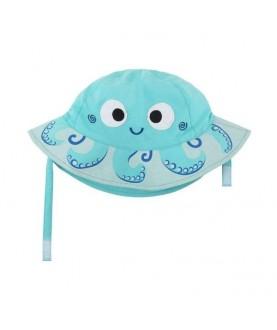 Cappello protezione solare-UV UPF 50+ Zoocchini - Polpo