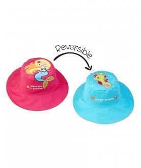 Cappello estivo reversibile protezione UV SPF 50+ - Sirena-Cavalluccio marino