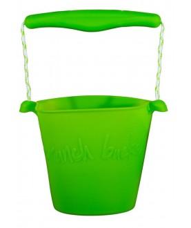 Secchiello pieghevole in silicone - Verde