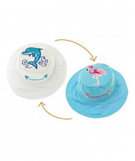 Cappello estivo reversibile protezione UV SPF 50+ - Delfino e Fenicottero