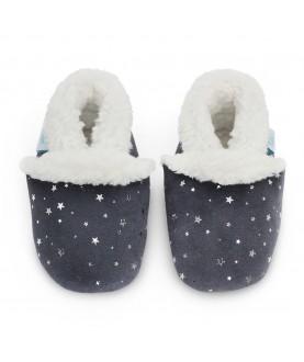 Pantofole Dotty Fish - Silver stars grey slippers