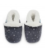 Pantofole Dotty Fish - Silver stars grey slippers
