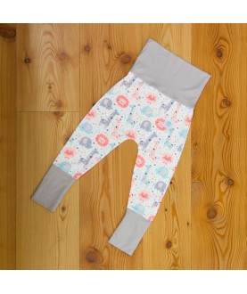 Pantalone Maxaloones Bio - Pink jungle - Culla di Teby