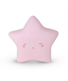 Luce notturna da parete - Stella rosa