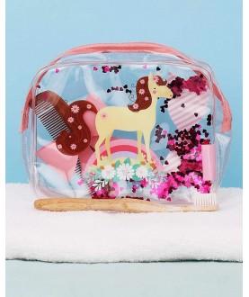Beauty Case Glitter - Cavallo Rosa