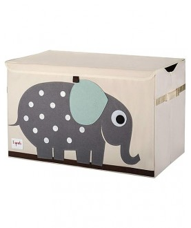 Baule Portatutto - baule portagiochi elefante - 100% Cotone