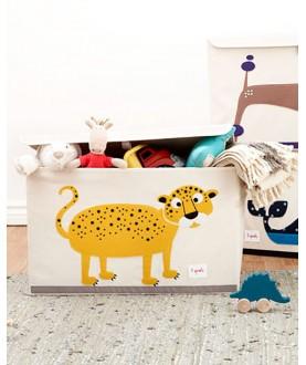 Baule Portatutto - baule portagiochi leopardo - 100% Cotone
