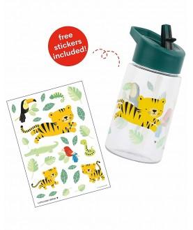 Borraccia da decorare con sticker Tigre - A little love company