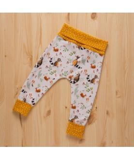 Pantalone Maxaloones Bio - Raccoons - Culla di Teby