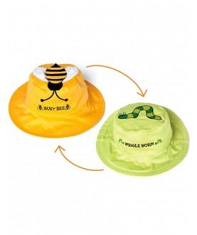 Cappello estivo reversibile protezione UV SPF 50+ - Ape vermetto