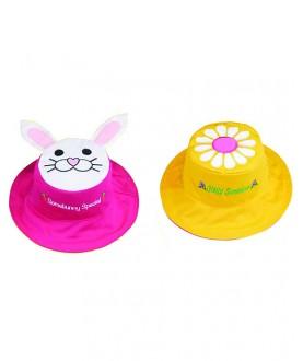 Cappello estivo reversibile protezione UV SPF 50+ - Fiore coniglio