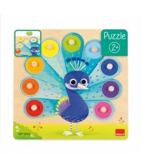 Puzzle Pavone dei Colori