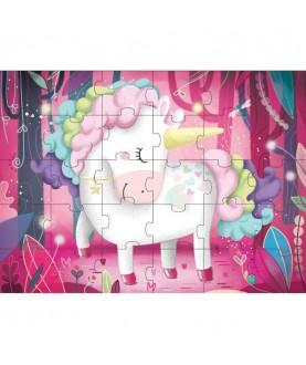 Il mio magico unicorno - libro + puzzle gigante