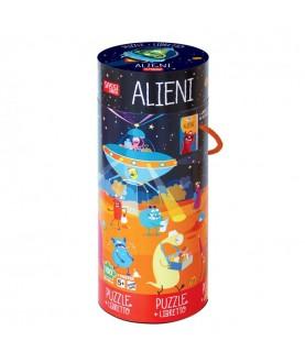 Alieni - libro + puzzle gigante