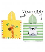 Pocho reversibile protezione UV SPF 50+ giraffa/zebra