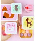 Set contenitori porta pranzo e porta merenda - Amici della foresta - A little love company