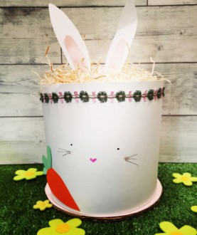 Torta di pannolini ecologici - Coniglietto