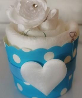 Cupcake di pannolini ecologici - Blu