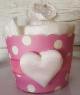 Cupcake di pannolini ecologici - Rosa