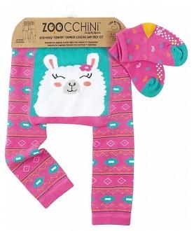 Set leggins antiscivolo e calzini antiscivolo Larney lama - Zoocchini