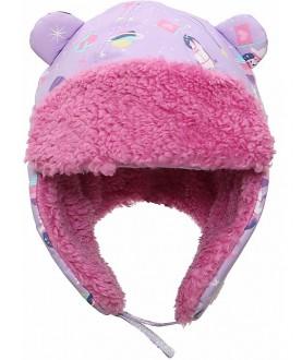 Cappello invernale reversibile Aviatore Unicorno lilla- Flapjackkids