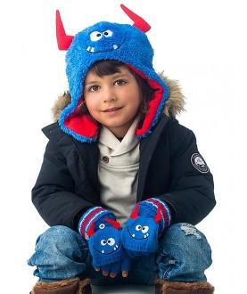 Cappello invernale reversibile Monsters - Flapjackkids