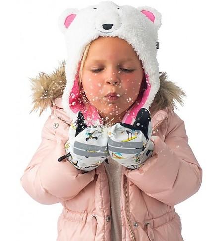 Cappello invernale reversibile Orso polare/occhiali - Flapjackkids