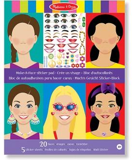 Crea la tua faccia - Album adesivi attacca e stacca - Melissa & Doug