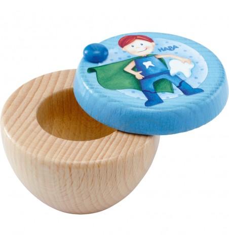 Scatola porta dentino Super eroe in legno - Haba