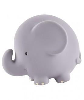 Animaletto/sonaglio 100% caucciu' naturale Elefante - Tikiri